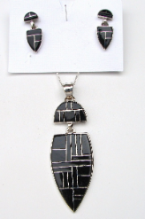 Onyx Pendant & Earring Set