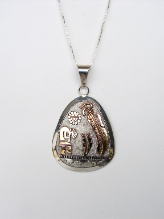 Silver Pendant With Designs