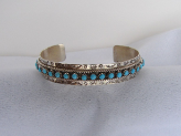 Silver And Turquoise Stone Bracelet