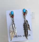 Coral/Turquoise Earrings