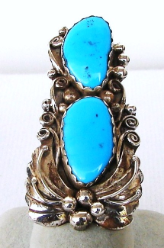 Nice Long Turquoise Ring
