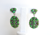 Gaspeite Cluster Earrings