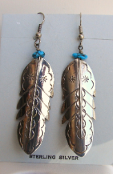 SS Feather Earring