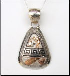 Silver With Gold OverLay Pendant
