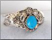 Silver Hand-crafted Designs with Turquoise