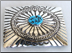 SS Belt Buckle With Turquoise