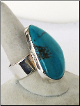 Blue-Green Turquoise Stone Ring