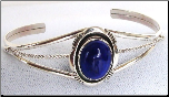 SS with Blue Lapis Women's Bracelet